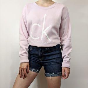 Calvin Klein PalePink CK Logo Pullover Sweatshirt